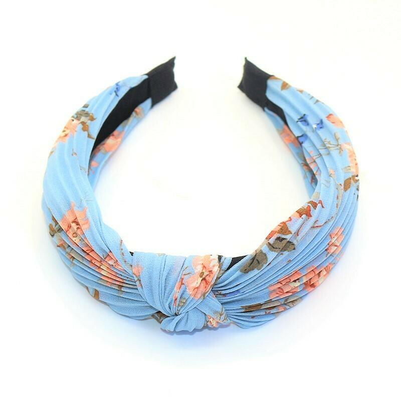 Chiffon floral knotted headband