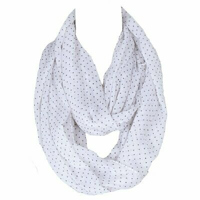 Small dots infinity scarf