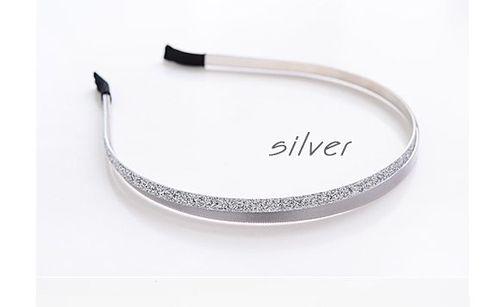 Satin glitter double-wrap headband