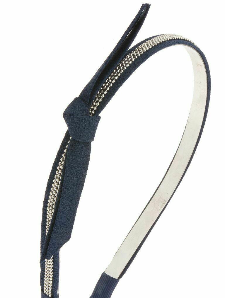 Sweet bow-tie golden zip headband