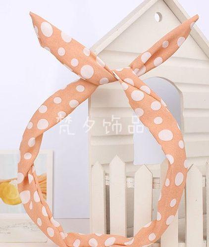 Polka dots twist hair scarf