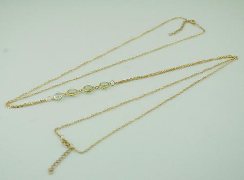 Clear gems body chain