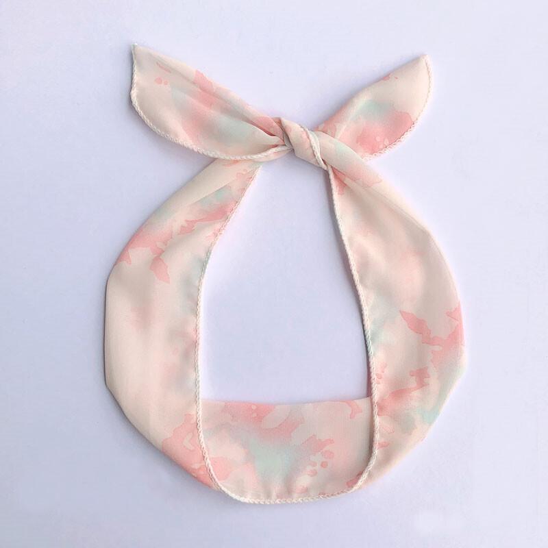 Tie-dye orange twist hair scarf
