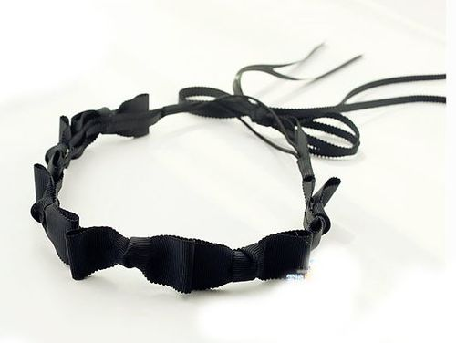 Long-tailed 6x bowknot elastic headband