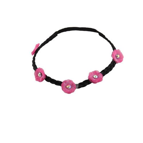 Chiffon flower wreath elastic headband