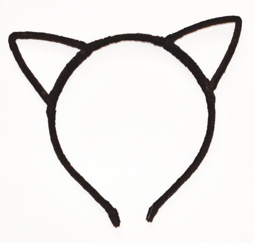 Velvet cat ears headband