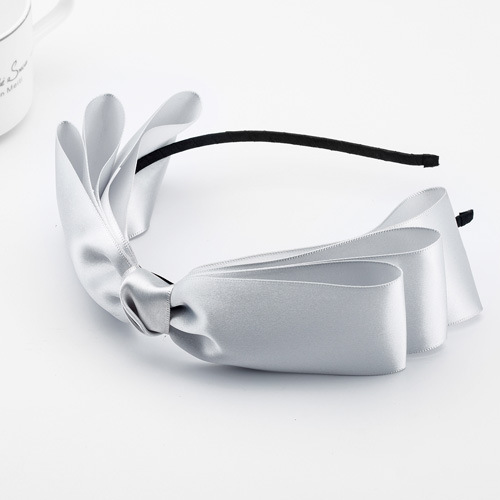Satin ribbon bowknot headband