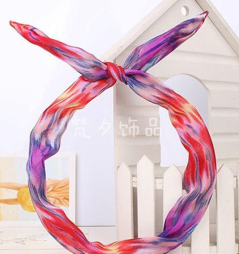 Aurora rainbow twist hair scarf