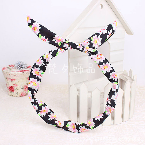 Pretty flowers twist hair scarf
