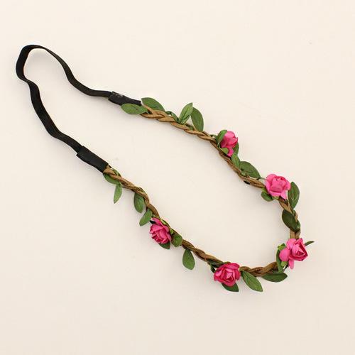 Paper flowers elastic headband