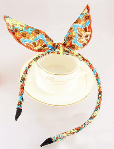 Bohemain chiffon bow braided headband