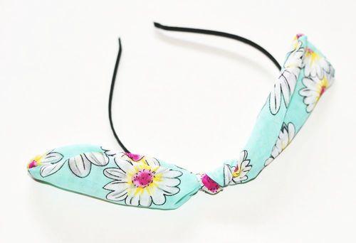 Chiffon flowers bow knot headband