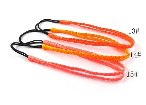 Neon plaited stretch headband