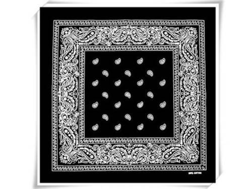 Amoeba patterned square bandanna scarf