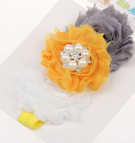 Beautiful cotton flowers baby headband