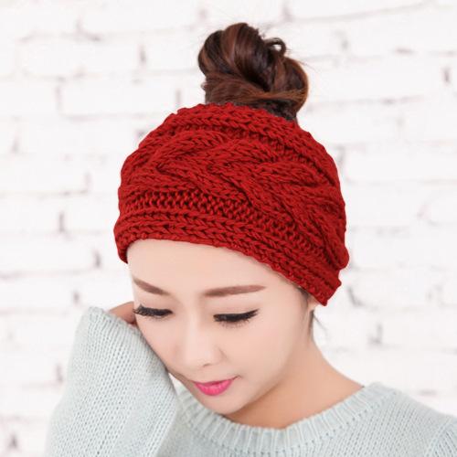 Braided pattern crochet headband