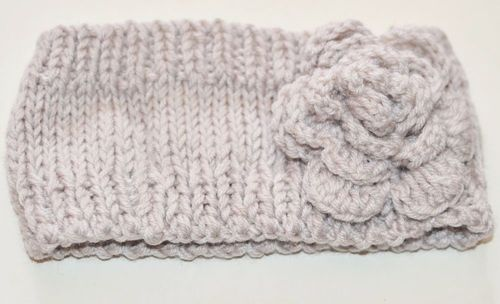 3D flower loop crochet headband
