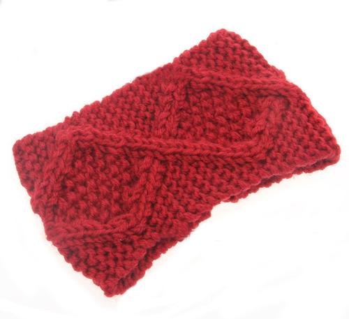Diamond loop crochet headband