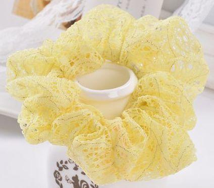 Beautiful lace scrunchies