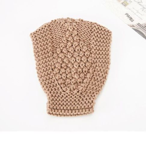 Extra-wide crochet headband