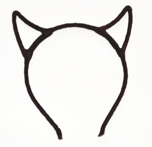 Velvet devil ears headband