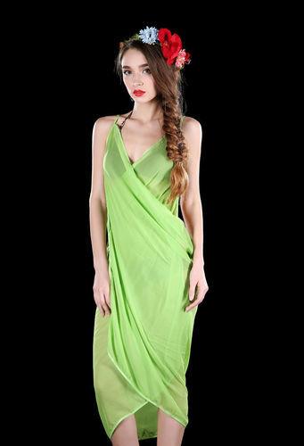 Dress style plain bikini wrap