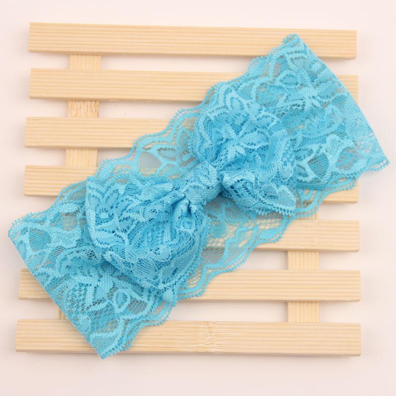 Soft lace bow headband