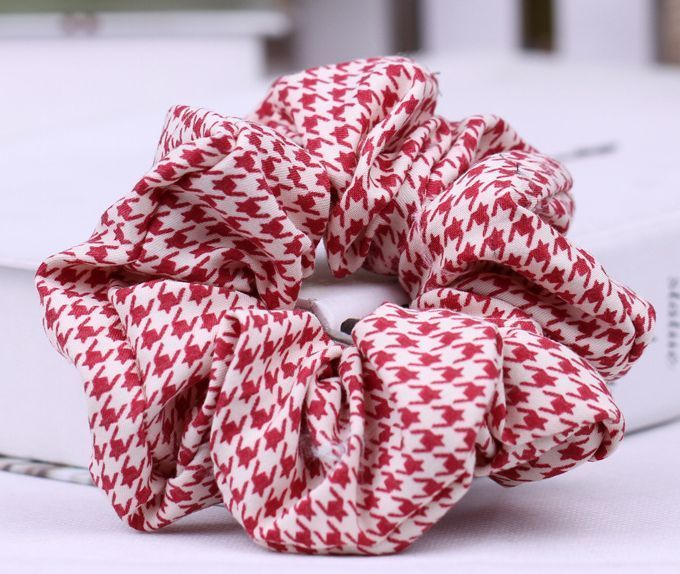 houndstooth scrunchies