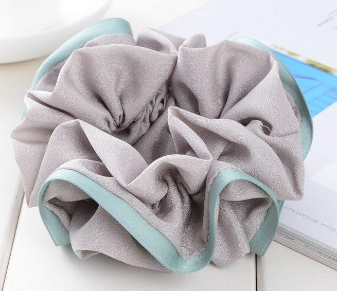 Multi-layer solid chiffon scrunchies