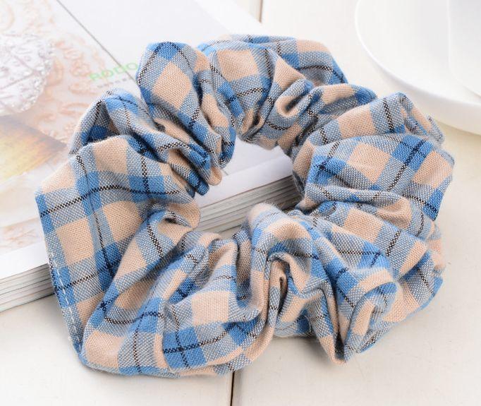 Scotch plaids cotton scrunchies