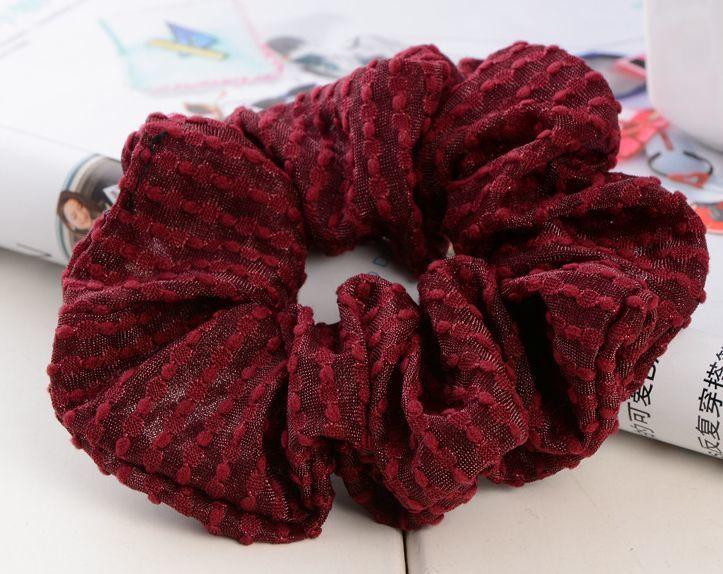 Sheer organza solid scrunchies