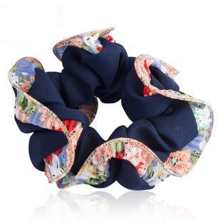 Pearl chiffon scrunchies