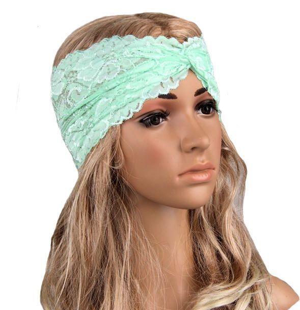Vintage lace turban headband