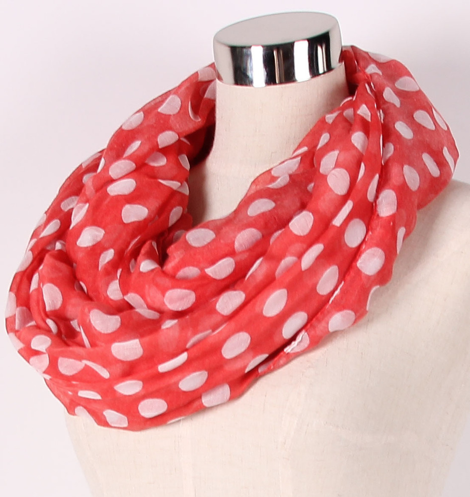 Big dots infinity scarf