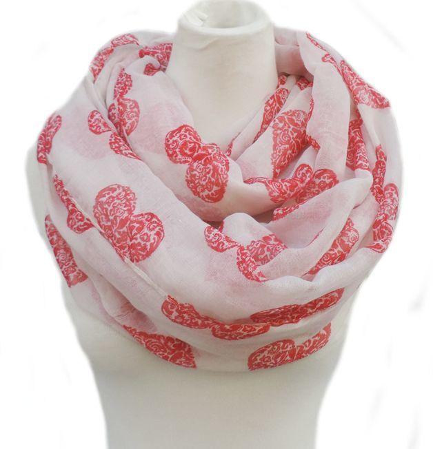 Beautiful hearts infinity scarf