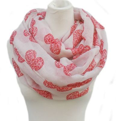 Beautiful hearts infinity scarf