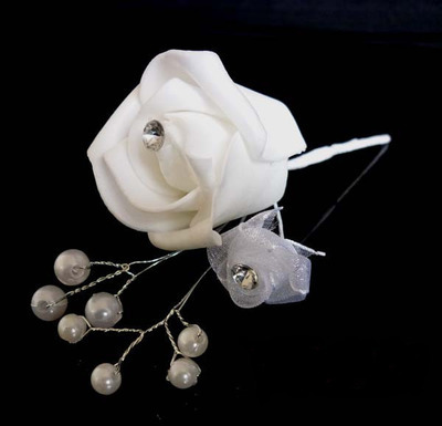 Rose bush flower hair stick (1 pair)