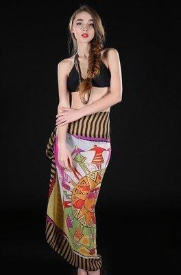White Apollo print bikini wrap