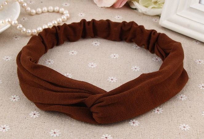 Plain cotton turban headband