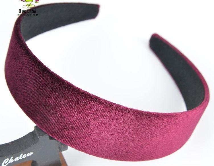 3.6cm wide velvet headband