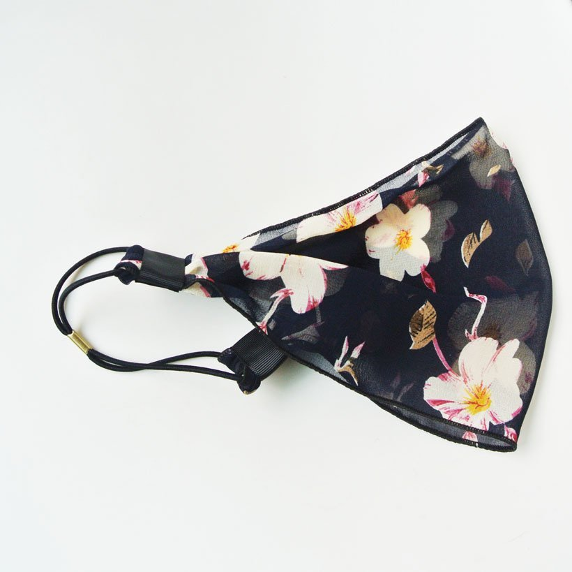 Floral sheer chiffon elastic bandanna headband