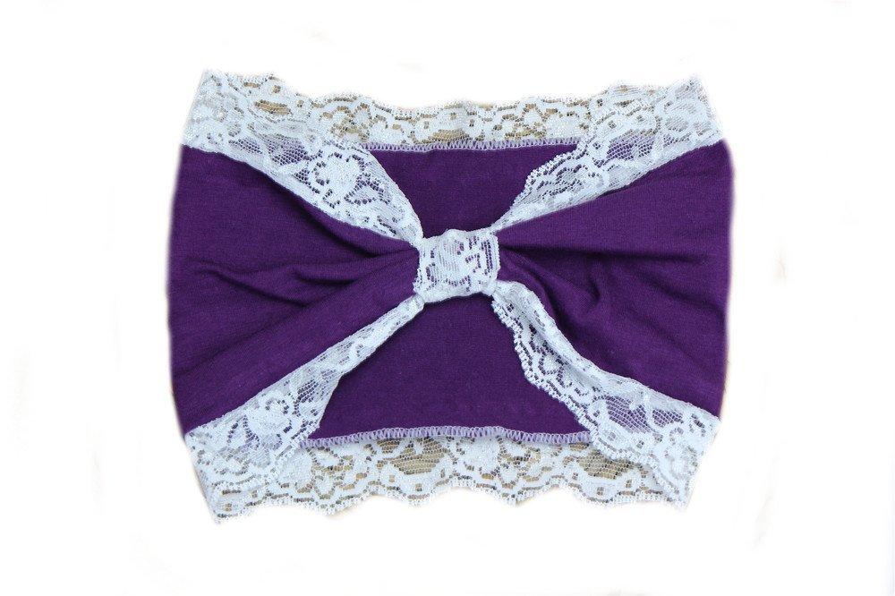 Cotton Lace knot bandanna headband