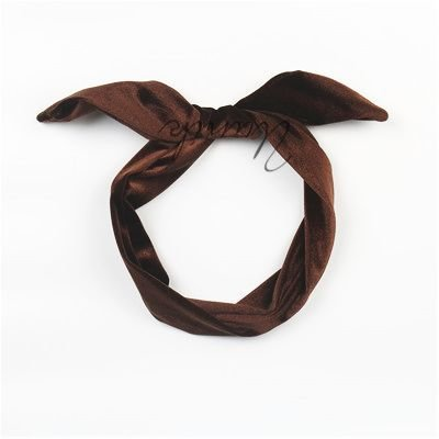 Velvet twist hair scarf