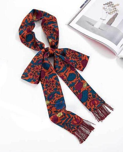 Fringe long ribbon hair scarf