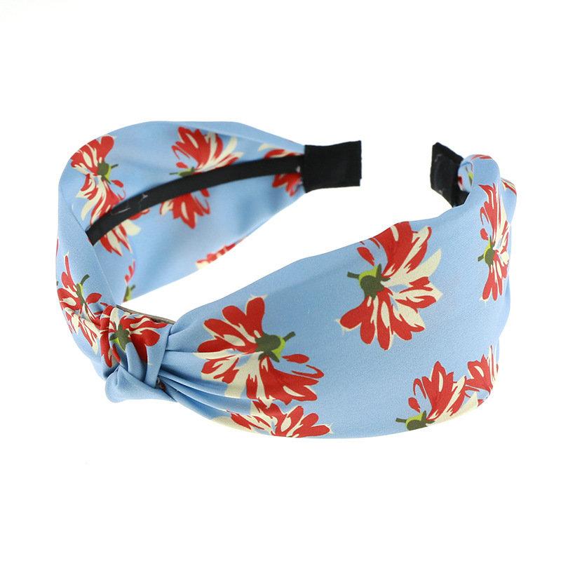Floral satin knot headband