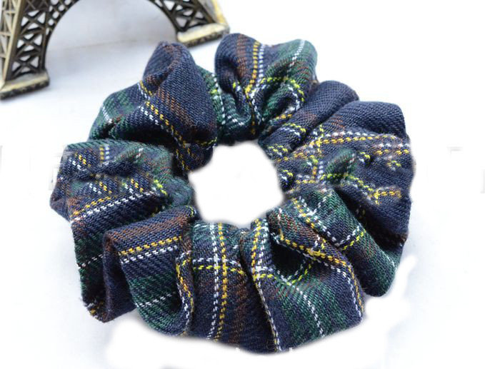 Premium scotch plaids cotton  scrunchies