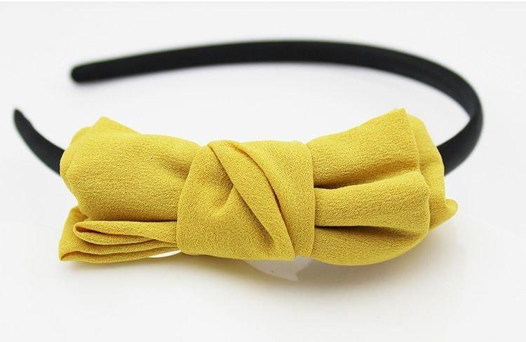 Yellow chiffon bow headband