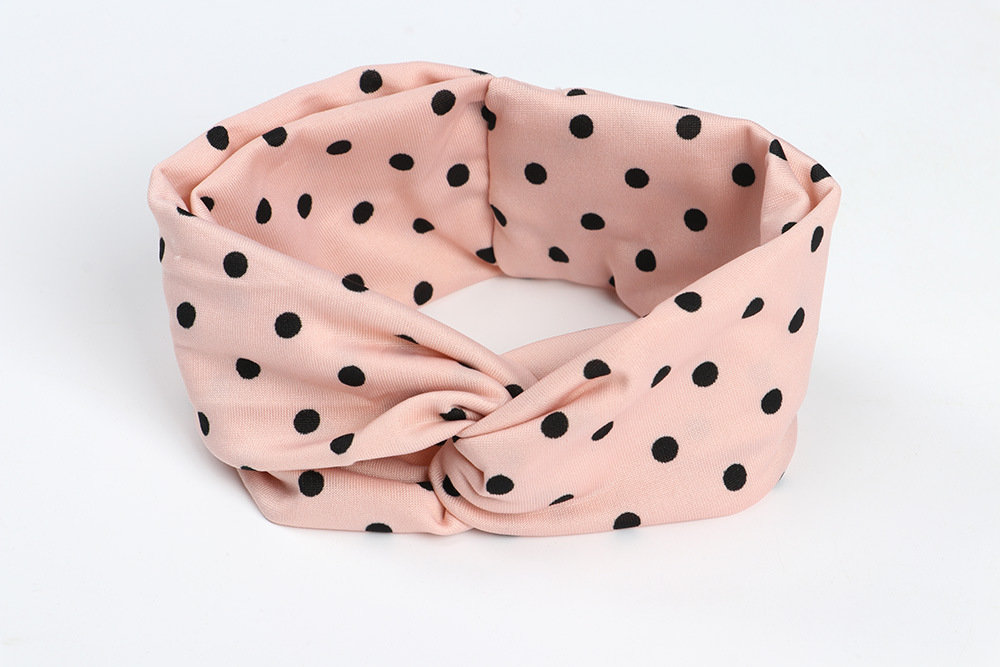 Kids polka dots stretchy headband