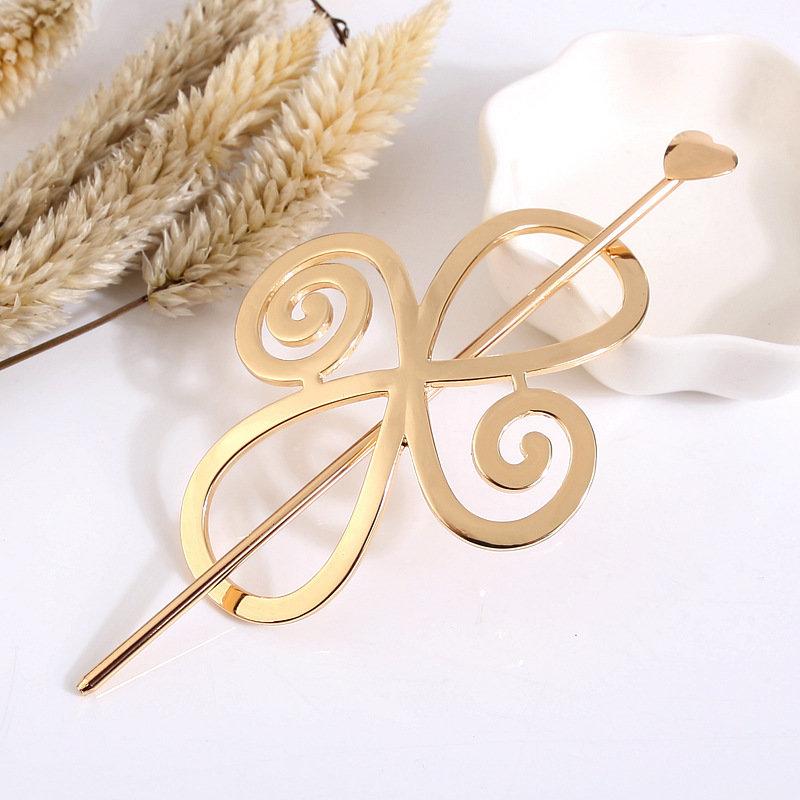 Metal floral hair stick