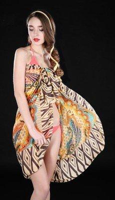 Bohemian totem print bikini wrap